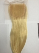 "Russian Platinum Straight closure14""-16"" no roots"