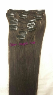 "22"" Clip On Extensions: VIRGIN 1B UNCOLORED"